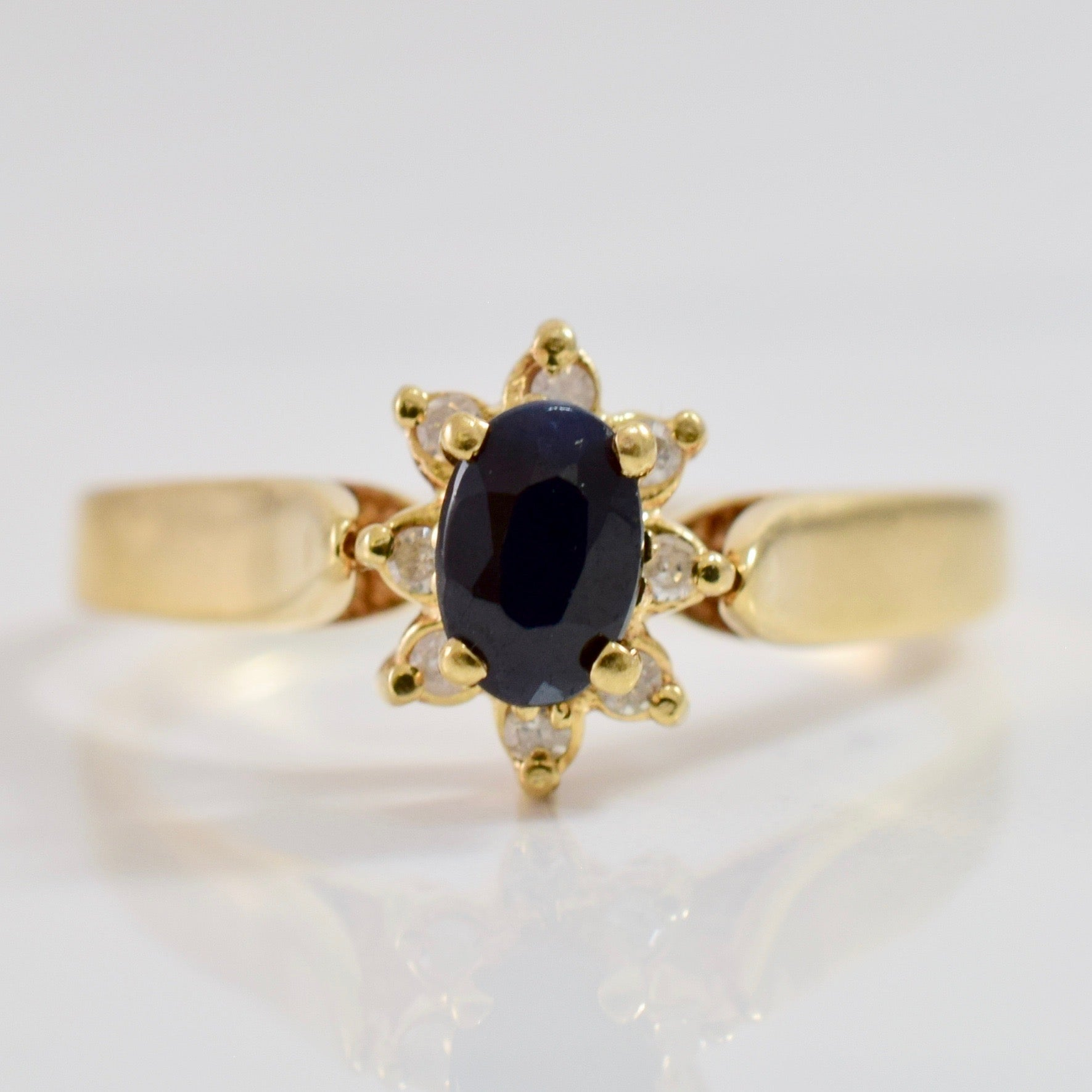 Sapphire and Diamond Cluster Ring | 0.08 ctw SZ 9.75 |
