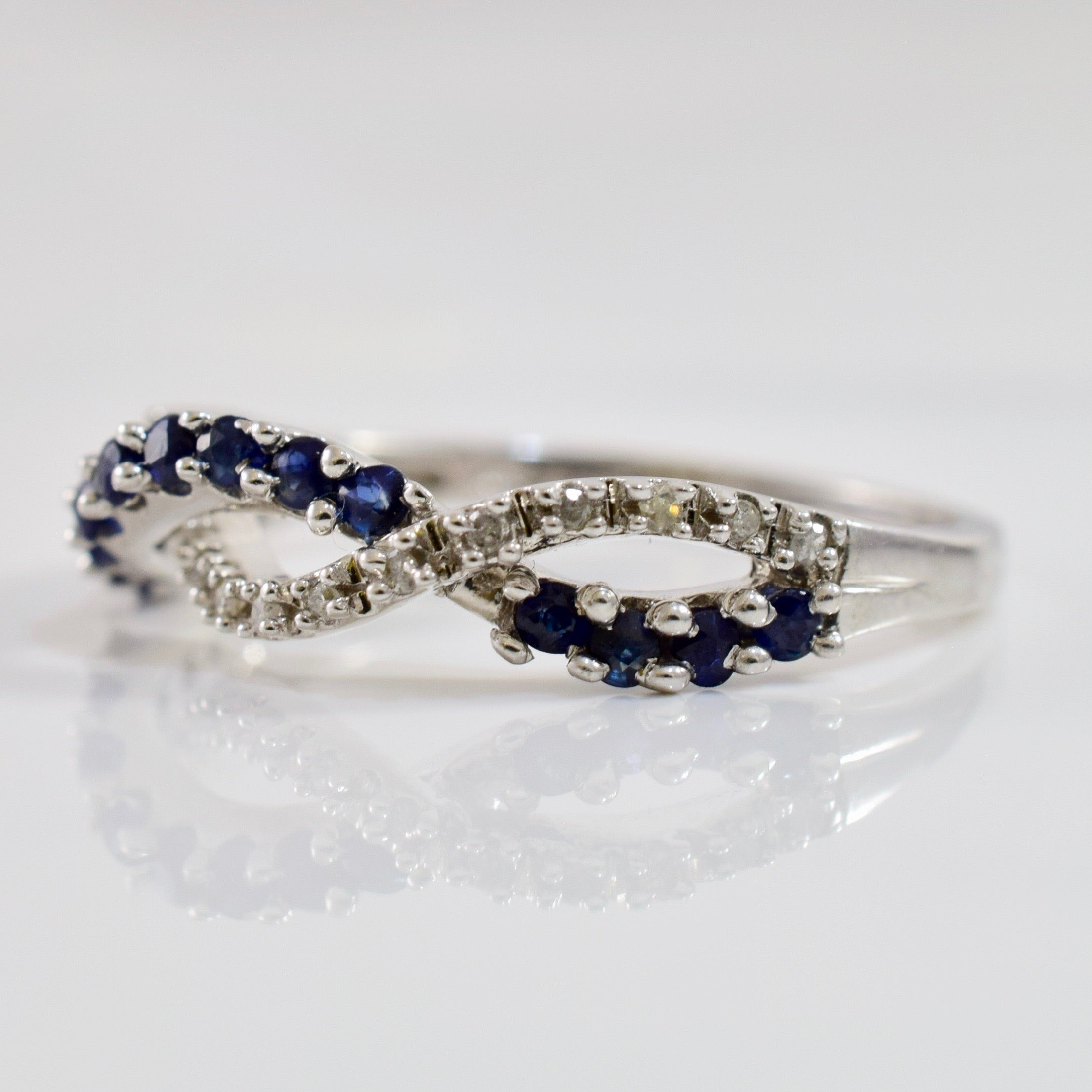 Sapphire and Diamond Infinity Band | 0.05 ctw SZ 7 |