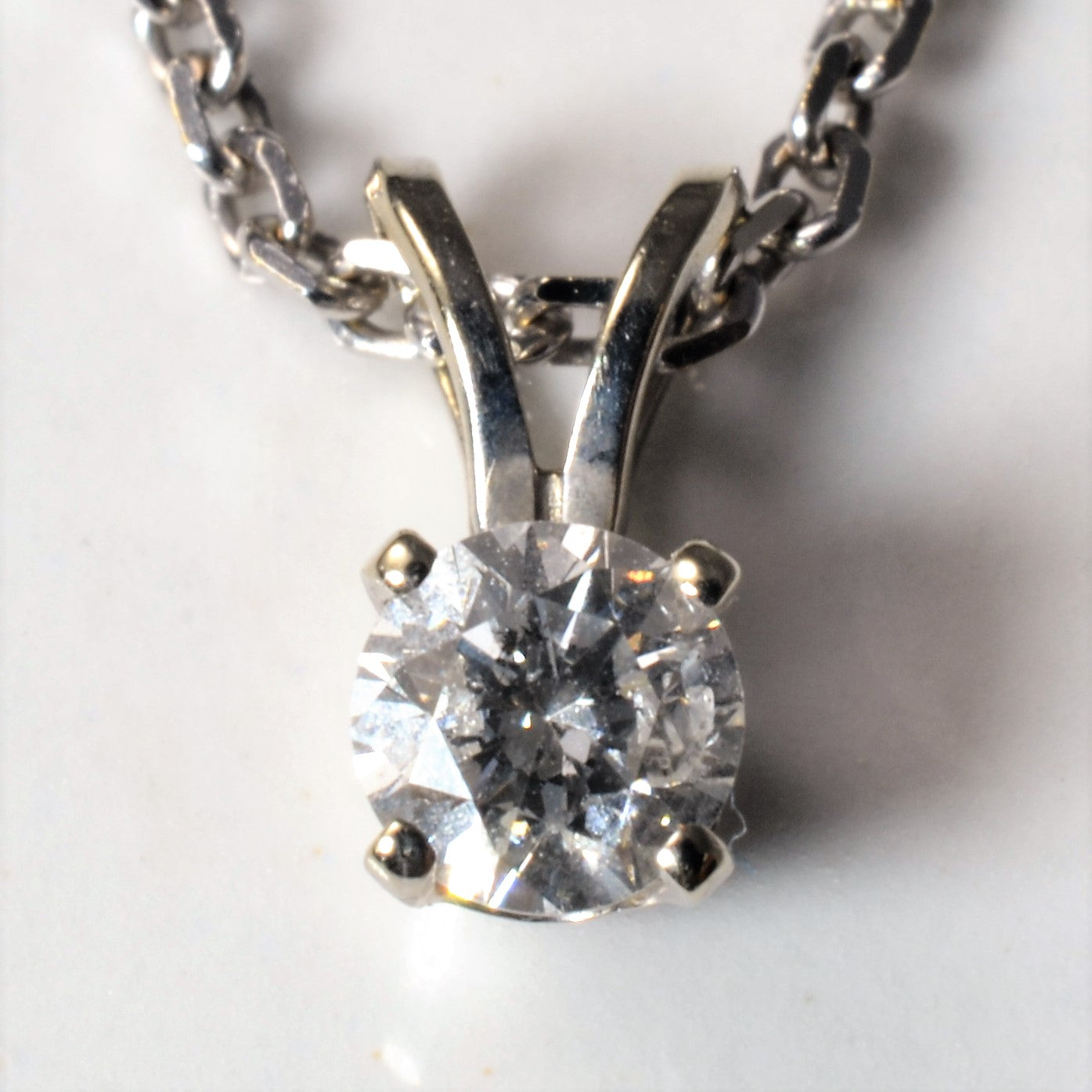 Solitaire Diamond Necklace | 0.25ct | 18"
