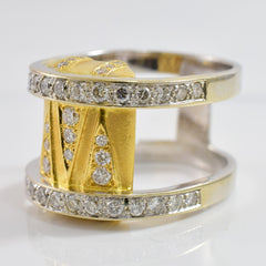 High Set Diamond Double Band | 1.50 ctw SZ 7.5 |