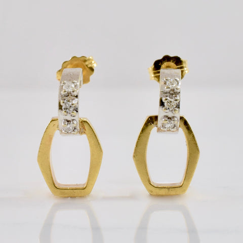 Geometric Diamond Earrings | 0.06 ctw |