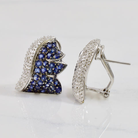 Sapphire and Diamond Hedgehog Earrings | 0.10 ctw |