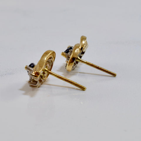 Sapphire and Diamond Earrings | 0.18 ctw |