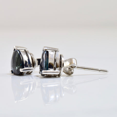 Pear Cut Sapphire Stud Earrings