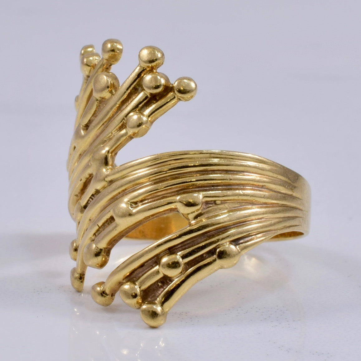 Intricate Yellow Gold Ladies Ring | SZ 8 |