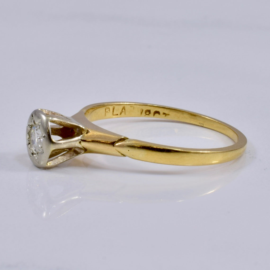 Edwardian Solitaire Diamond Ring | 0.11ct | SZ 6 |