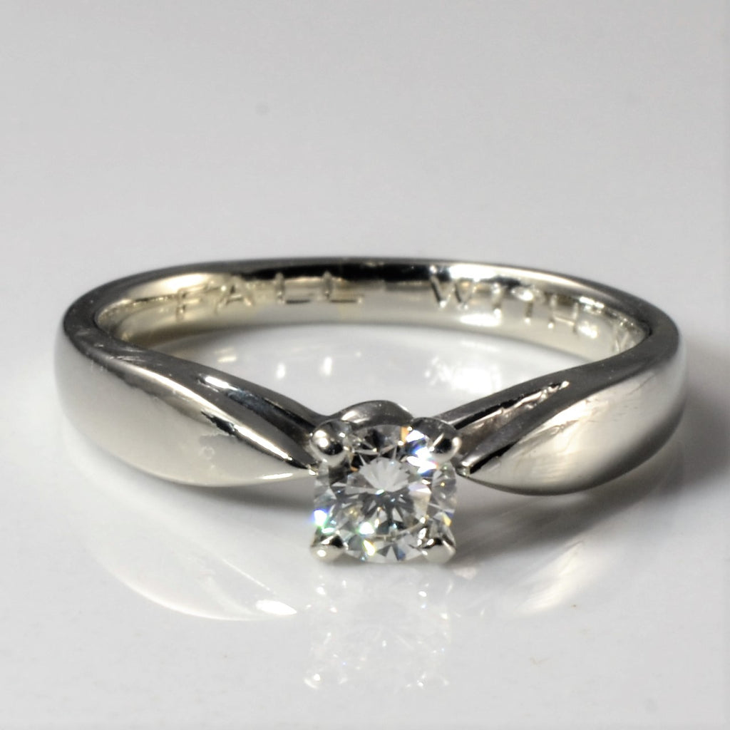 """""""Fall With Me"""" Tapered Solitaire Ring 