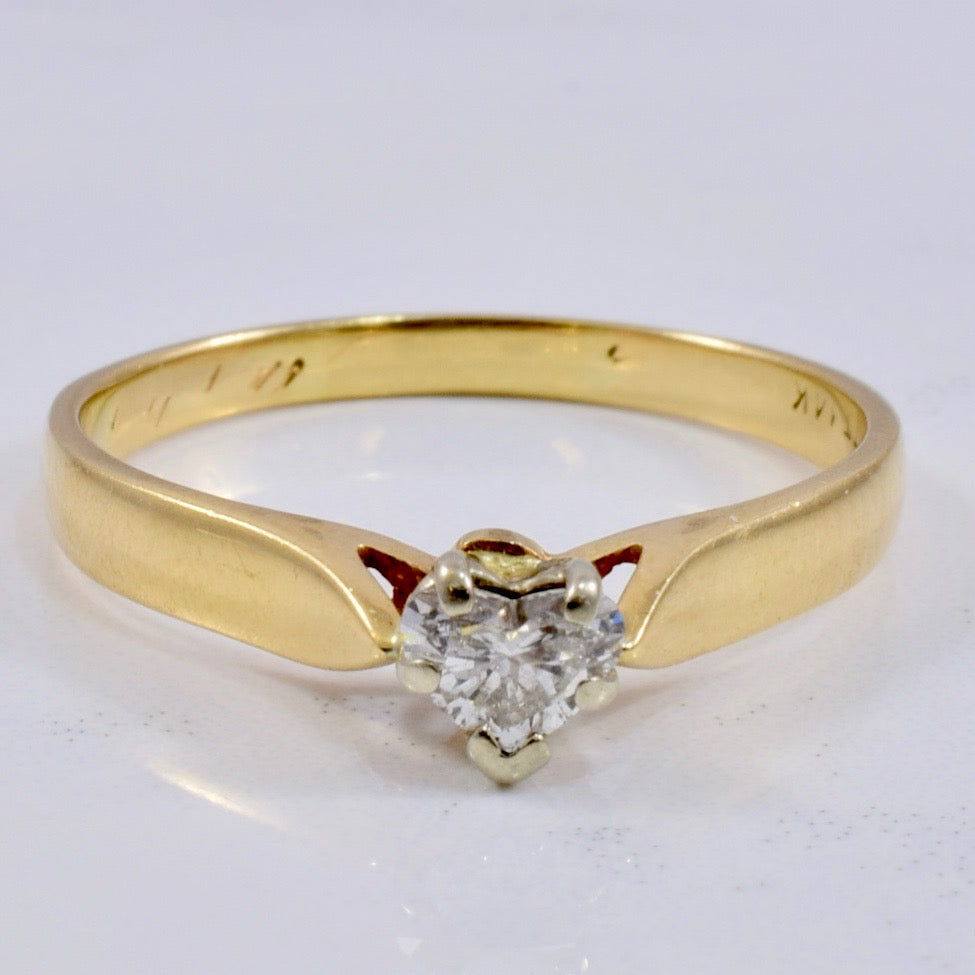 Heart Shaped Diamond Engagement Ring | 0.27 ct SZ 8.25 |