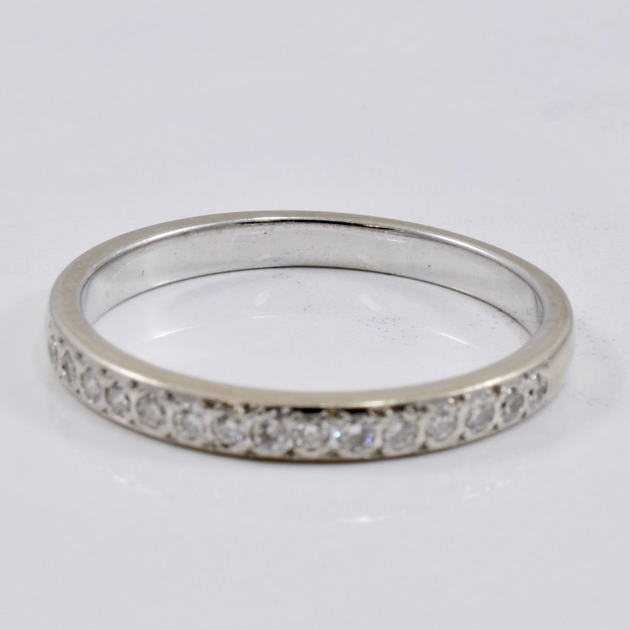 White Gold Diamond Band | 0.16 ct SZ 7.5 |