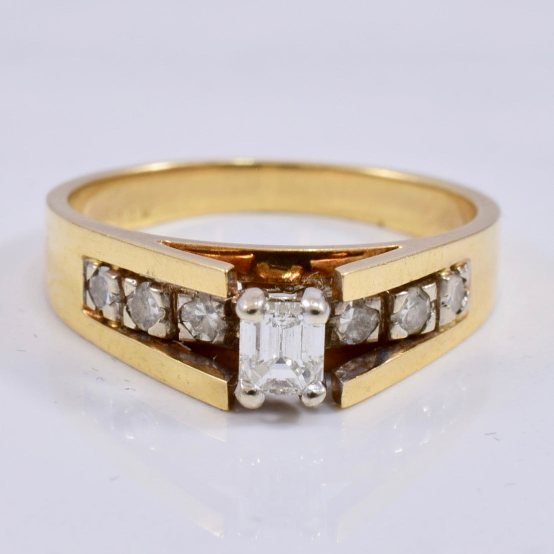 Emerald Cut Diamond Ring | 0.30 ctw SZ 6 |