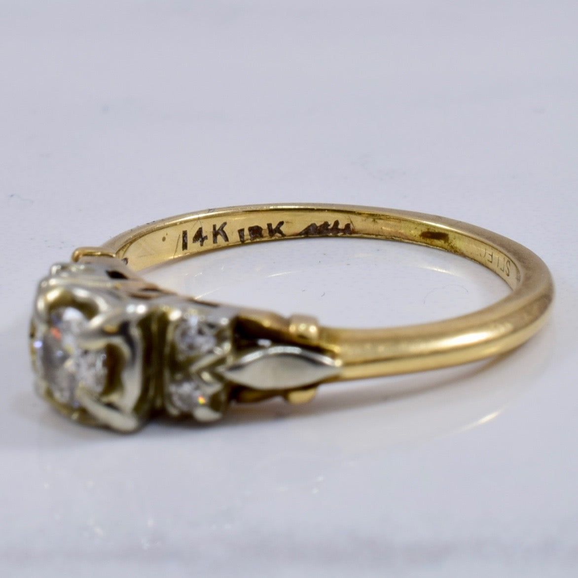 Vintage Engagement Ring | 0.24 ctw SZ 5 |