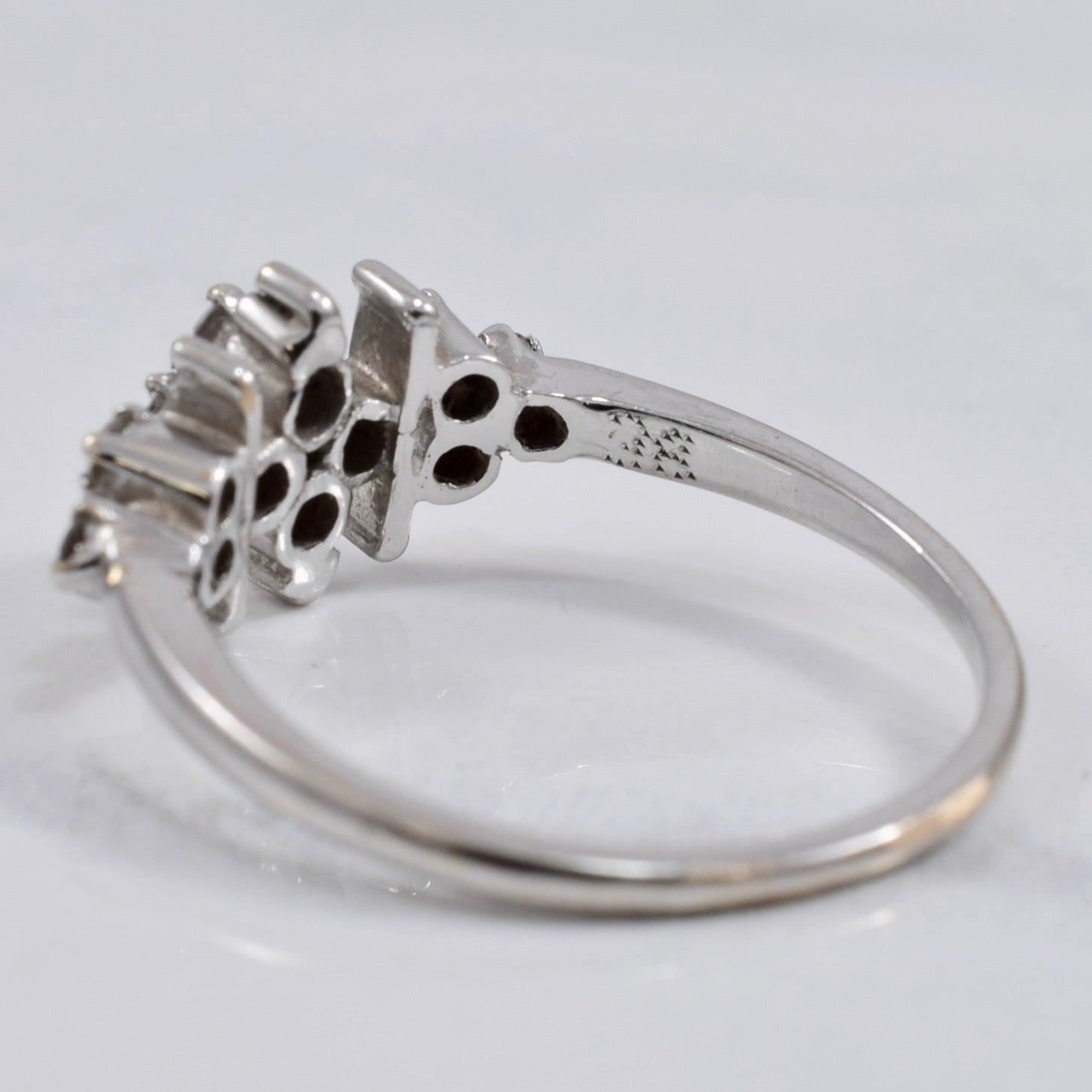 Diamond Cluster White Gold Ring | 0.28 ctw SZ 5.75 |