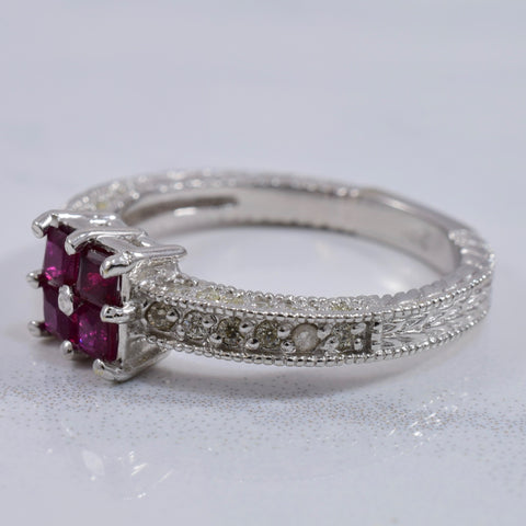 Ruby and Diamond Ring | 0.24 ctw SZ 6.5 |