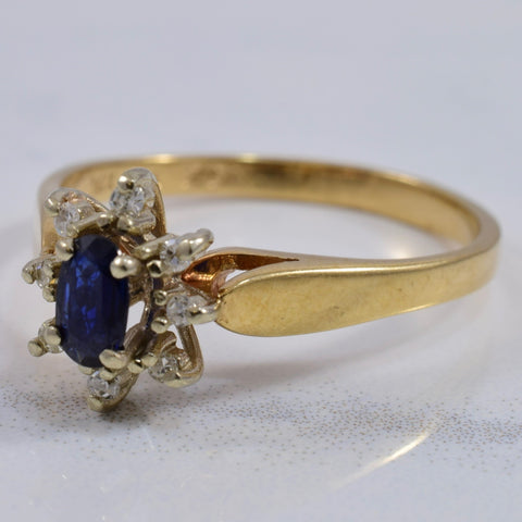 Sapphire and Diamond Cluster Ring | 0.08 ctw SZ 7.75 |