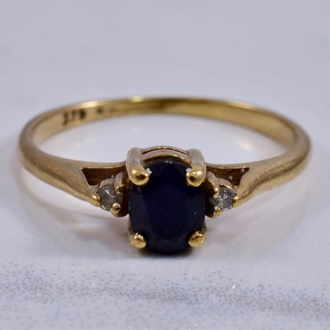 Sapphire and Diamond Accent Ring | 0.02 ctw SZ 4 |
