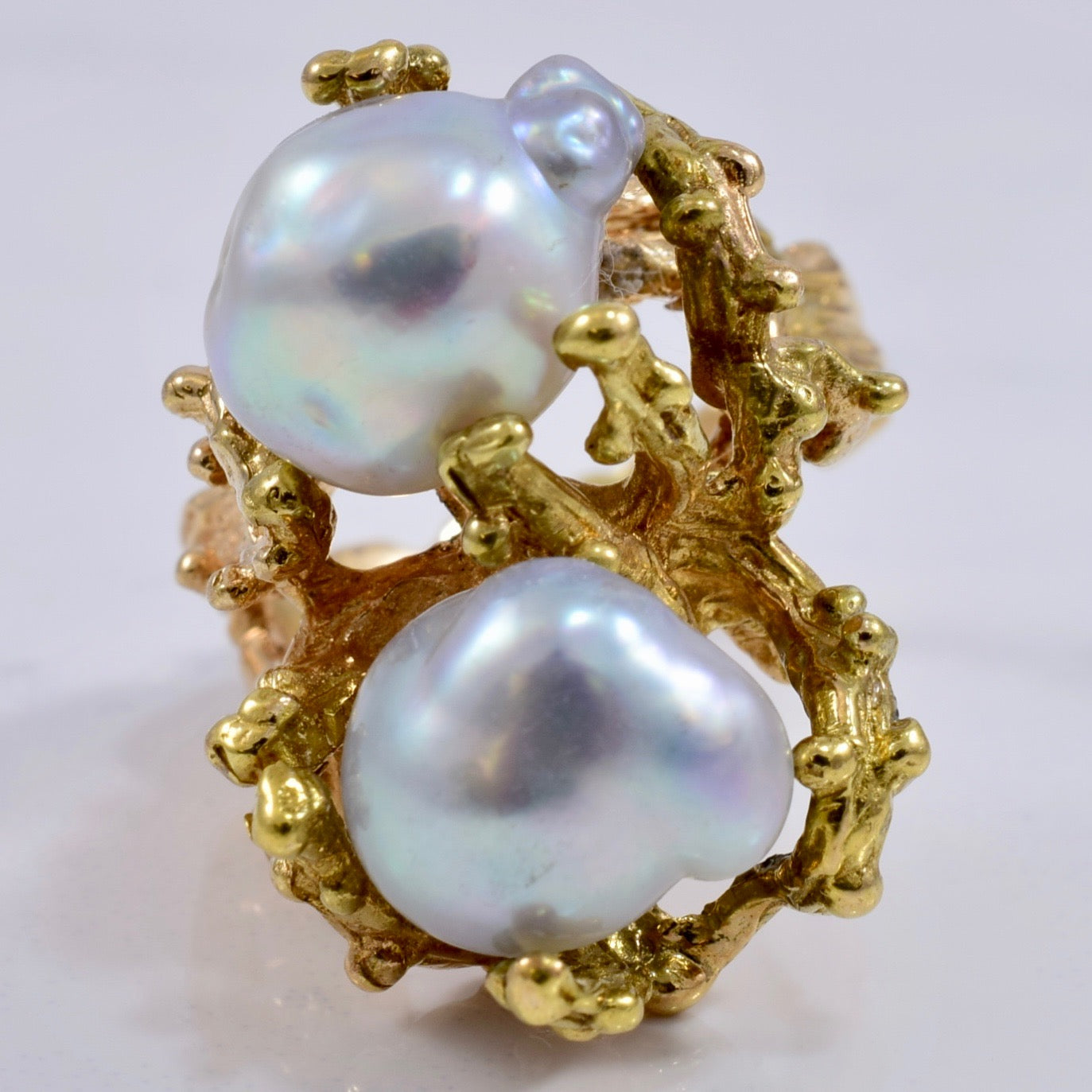 Baroque Pearl Ring | 8.7 ctw SZ 5 |