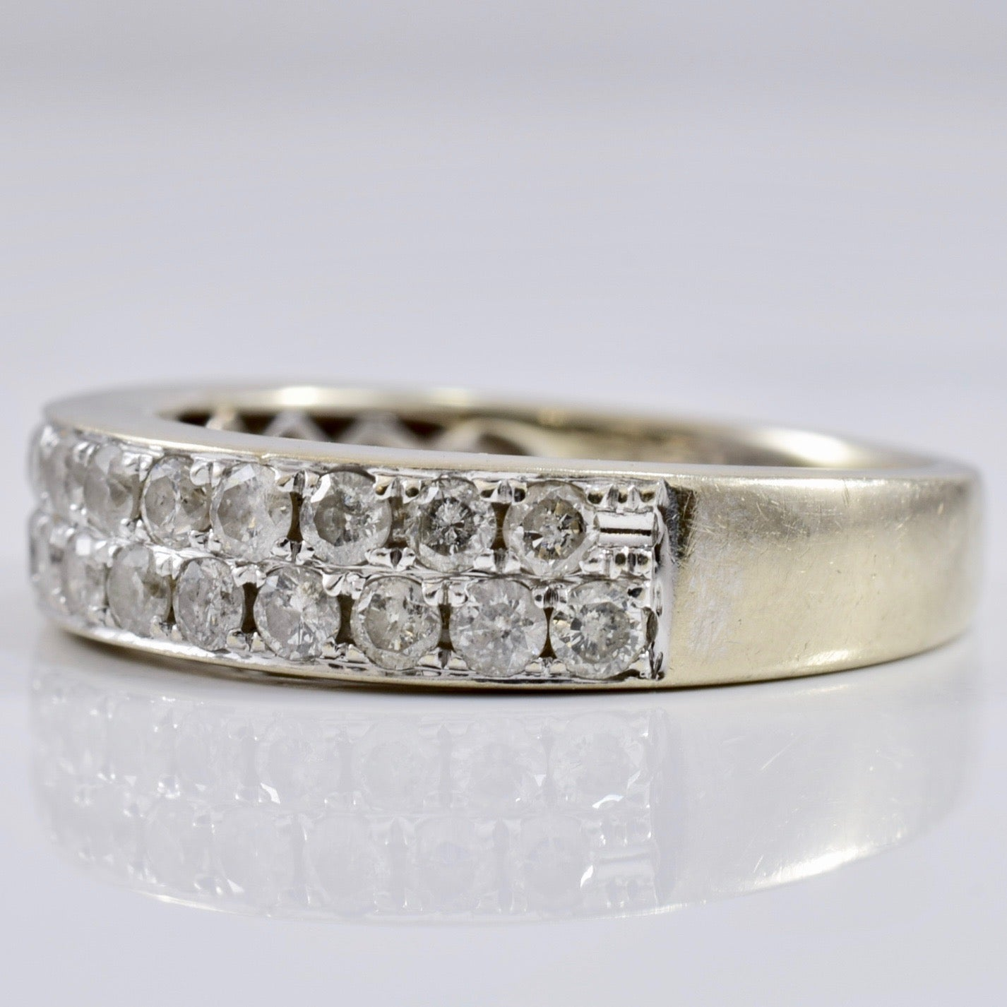 White Gold Diamond Band | 0.55 ctw SZ 5.5 |