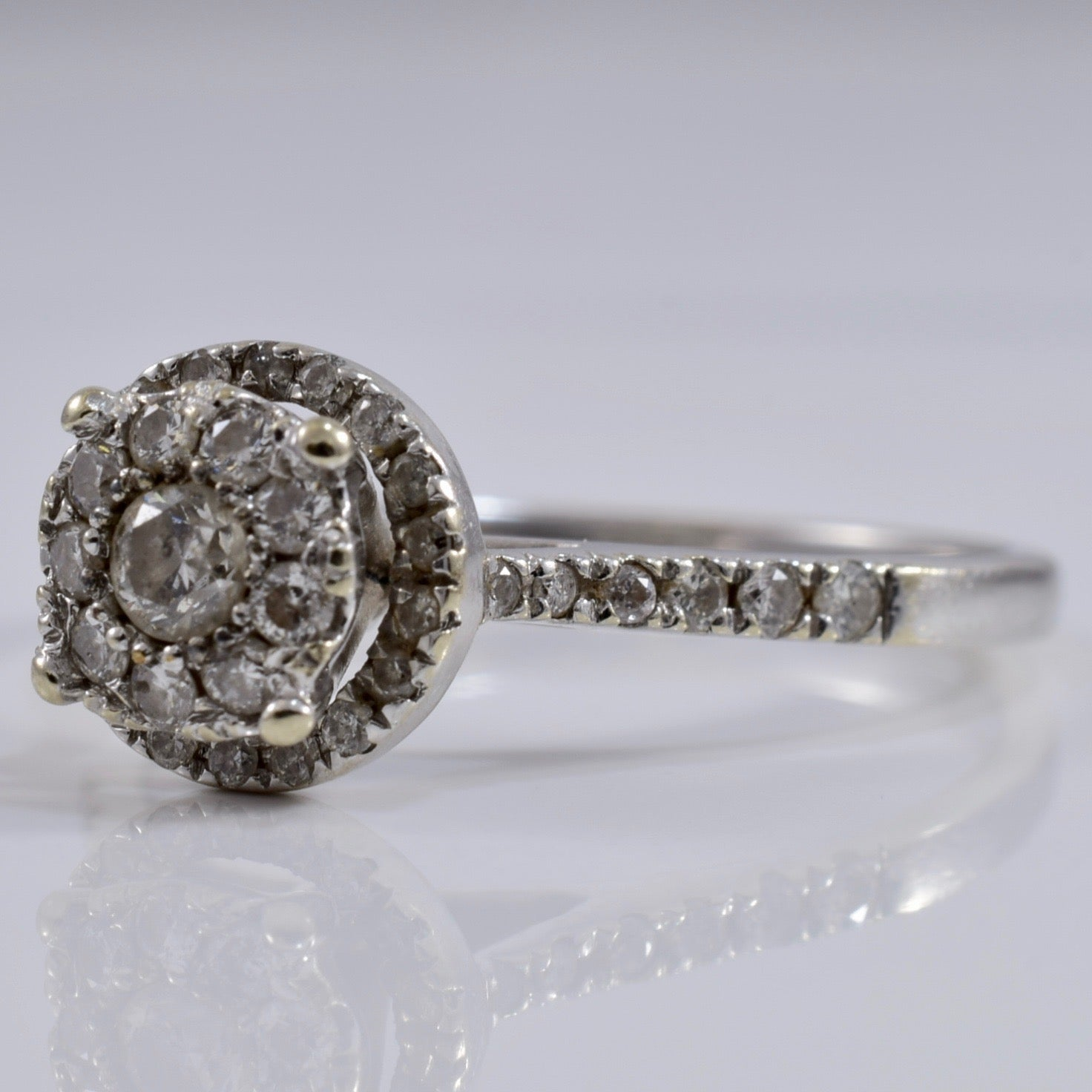 Diamond Cluster Engagement Ring | 0.36 ctw SZ 7 |