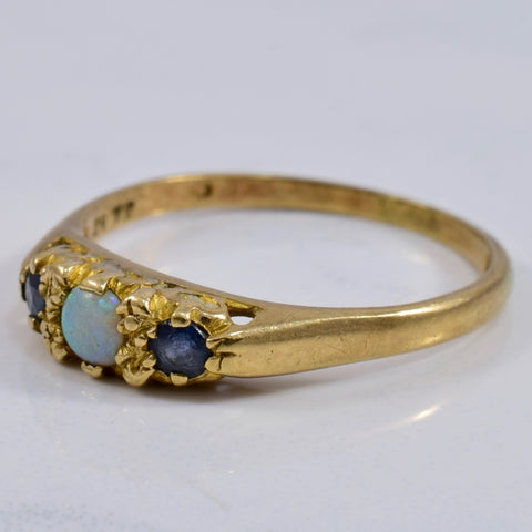 Opal and Sapphire Ring | 0.23 ctw SZ 7.75 |