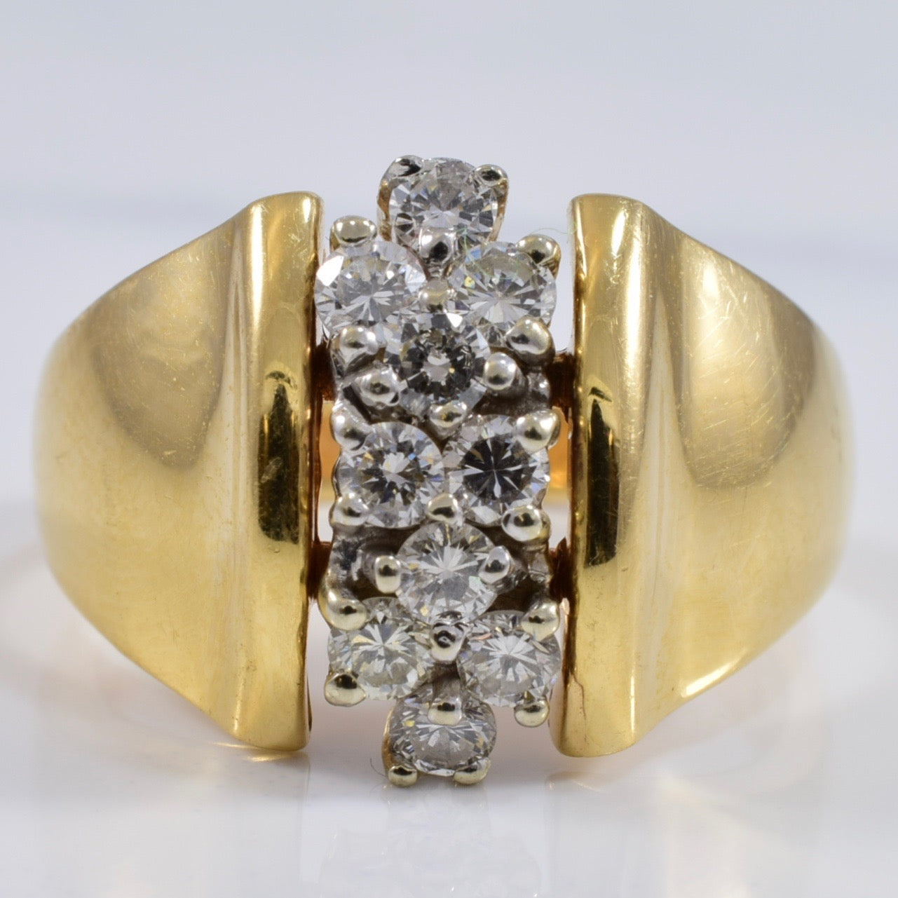 Diamond Cluster Row Ring | 0.50 ctw SZ 7 |