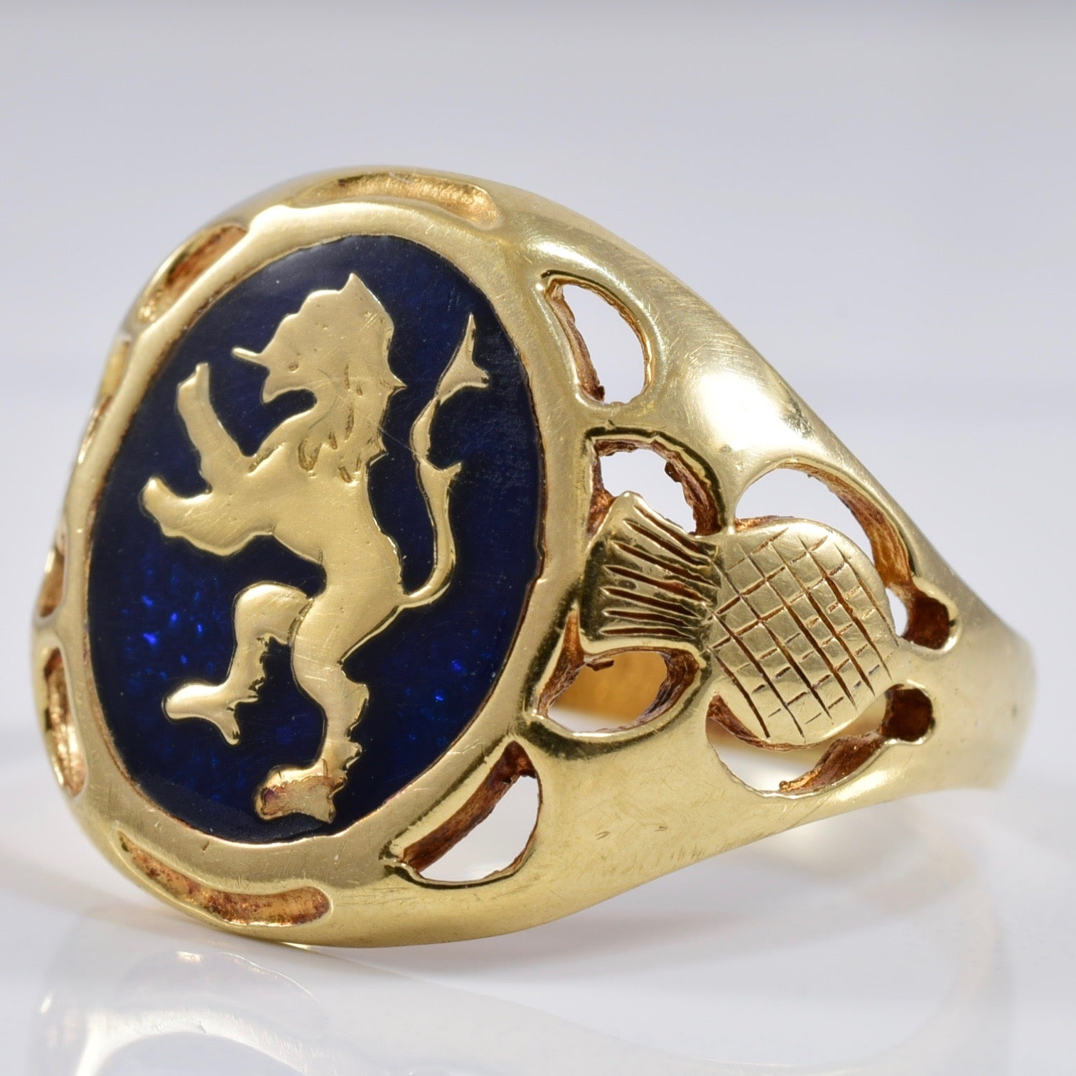 Welsh Lion Signet Ring | SZ 10 |