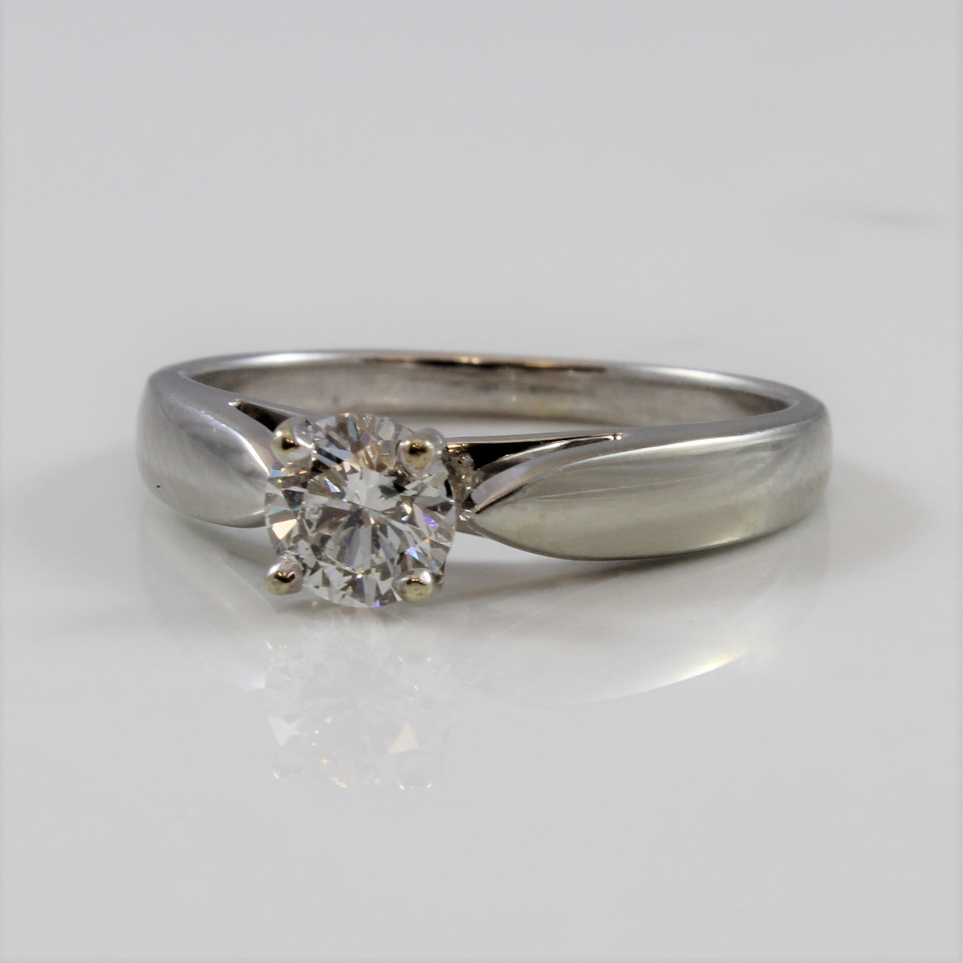 Tapered Solitaire Diamond Engagement Ring | 0.50 ct | SZ 6.25 |