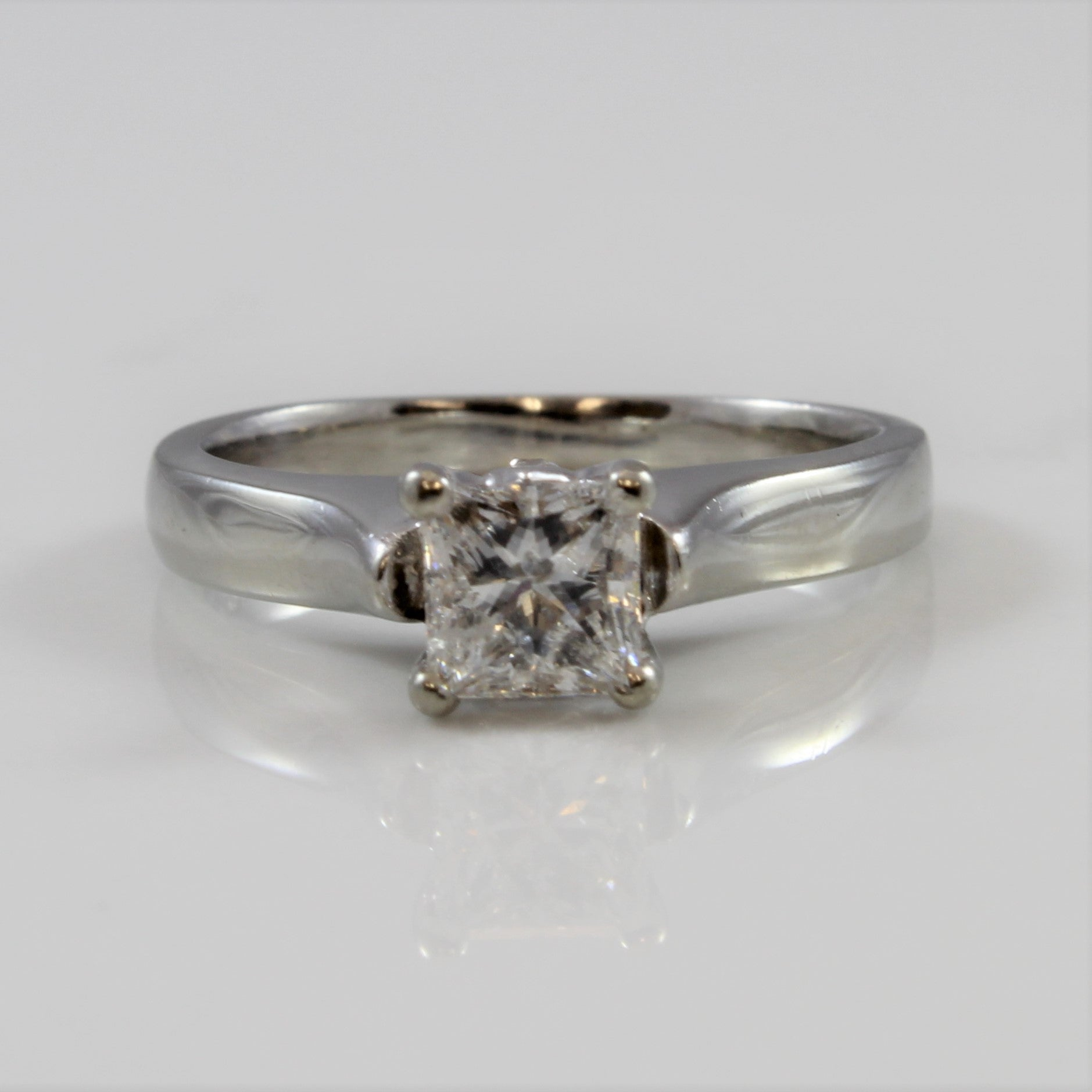 Princess Diamond Solitaire Engagement Ring | 0.52ct | SZ 3.5 |