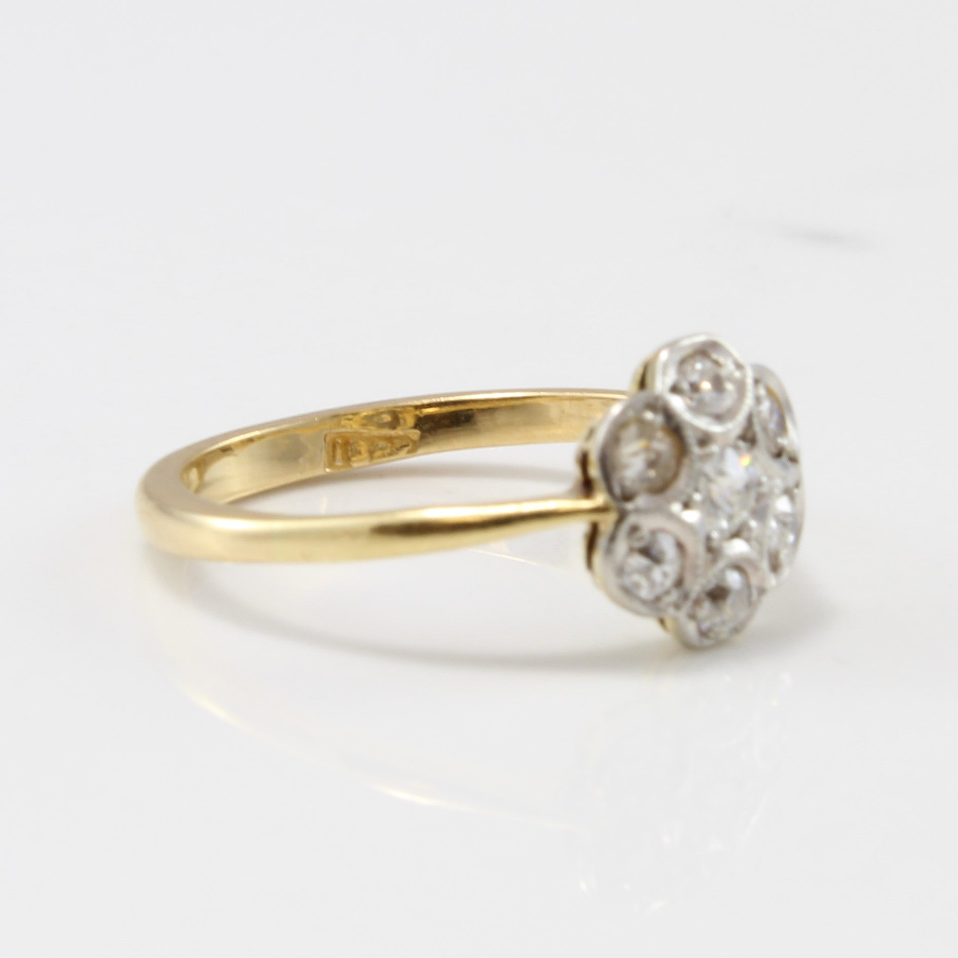 Edwardian Floral Diamond Ring | 0.32 ctw | SZ 5.75 |