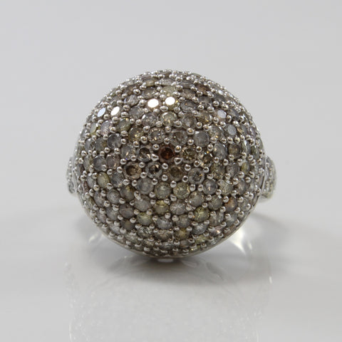 Disco Ball Multi Colour Diamond Ring | 2.53ctw | SZ 5.25 |