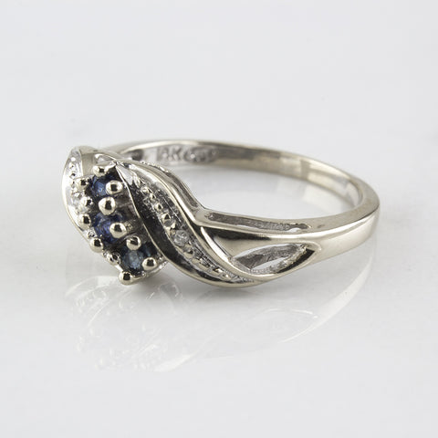 Diamond and Sapphire Bypass Ring | 0.11 ctw | SZ 5.5 |