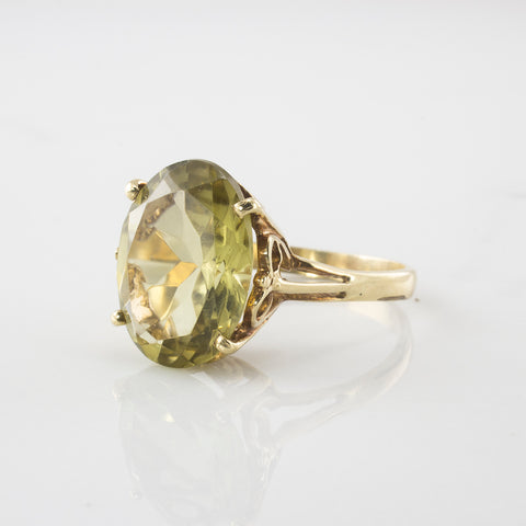 High Set Smoky Quartz Cocktail Ring | 7.81 ctw | SZ 10.25 |