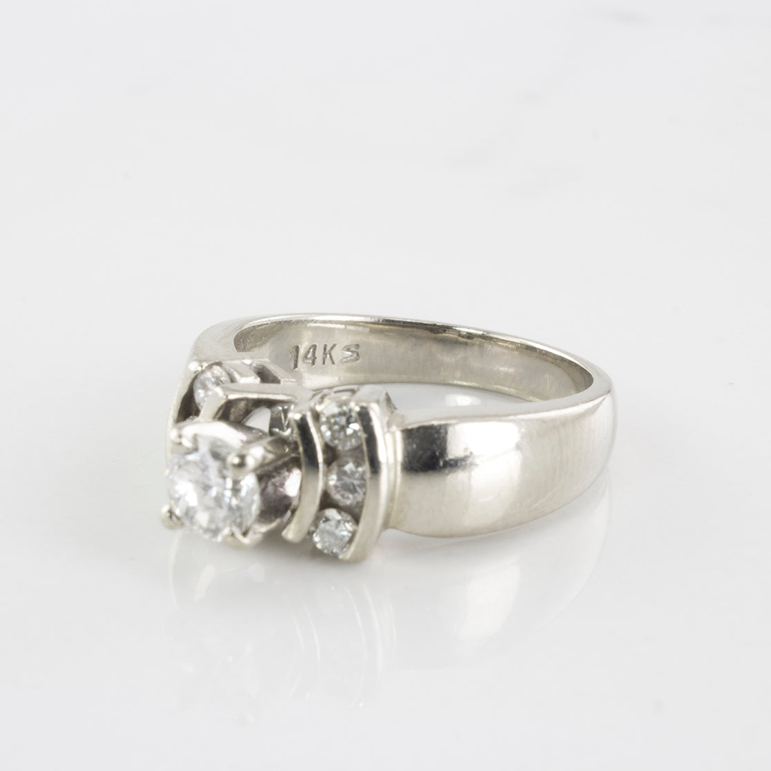Channel Accented Diamond Engagement Ring | 0.51 ctw | SZ 5.75 |