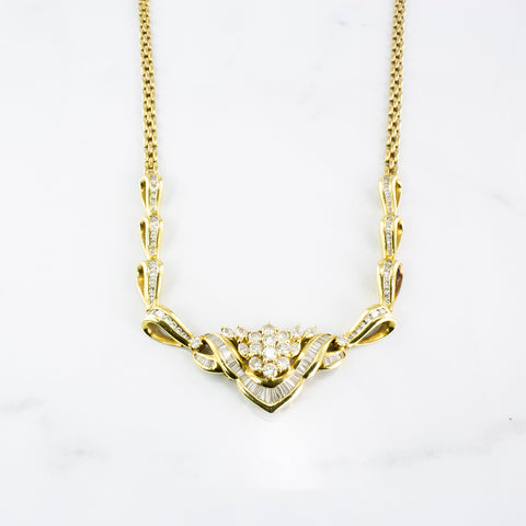 Diamond Statement Necklace | 2.90 ctw | SZ 18"