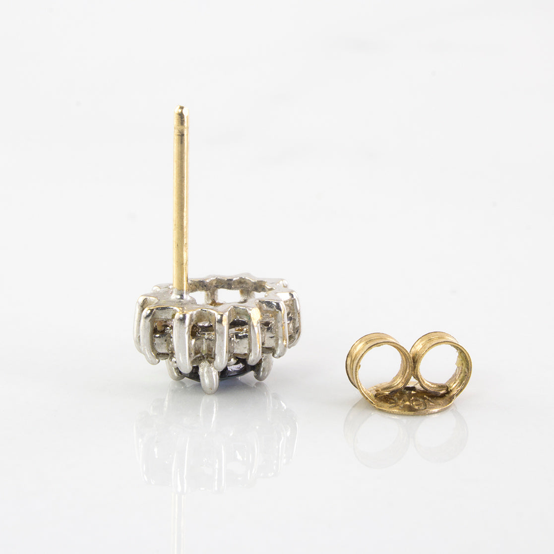 Diamond and Sapphire Stud Earrings | 0.12 ctw |