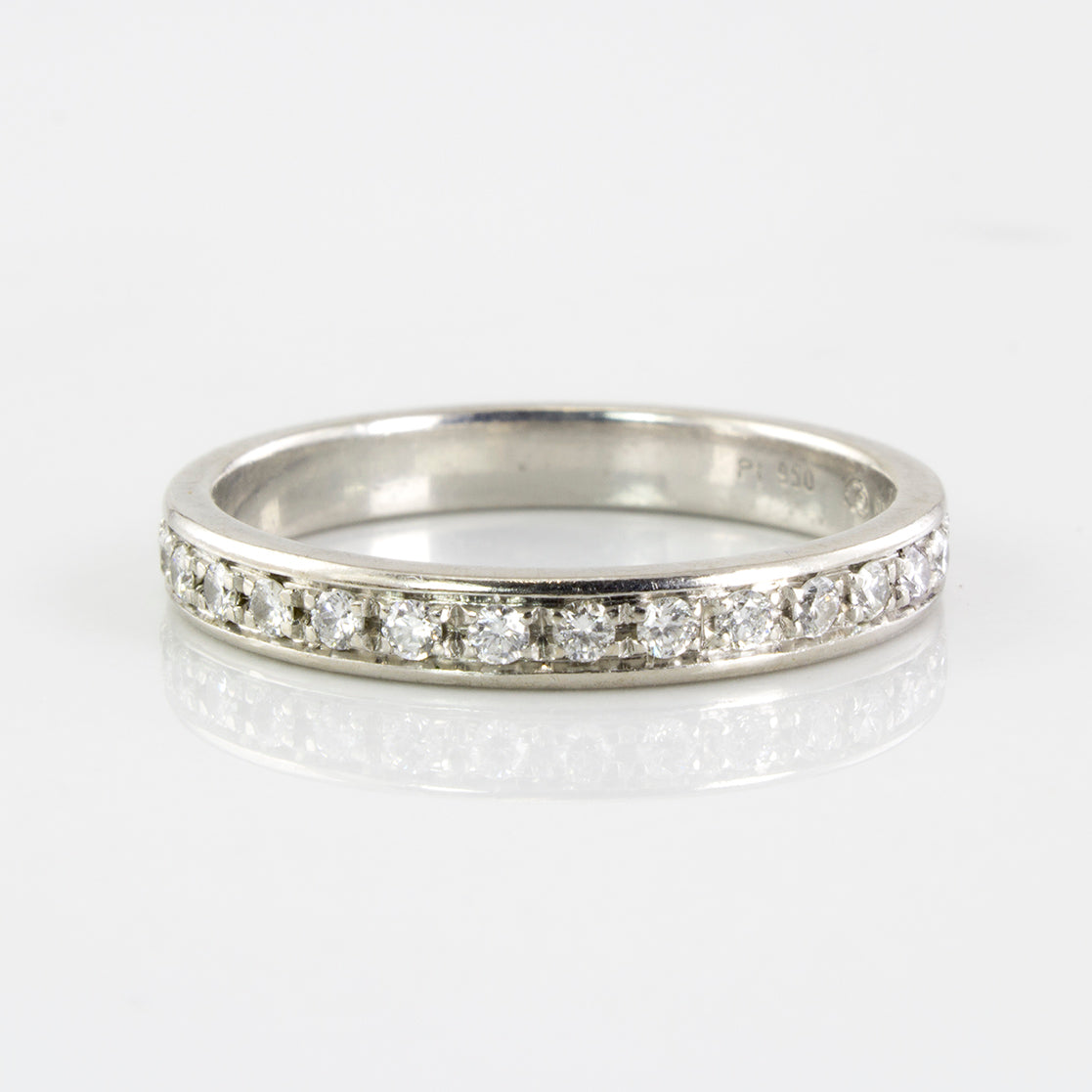 Platinum Diamond Eternity Band | 0.60 ctw | SZ 8.25 |