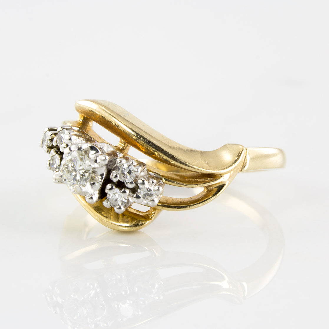 Free Form Diamond Ring | 0.19 ctw | SZ 6 |