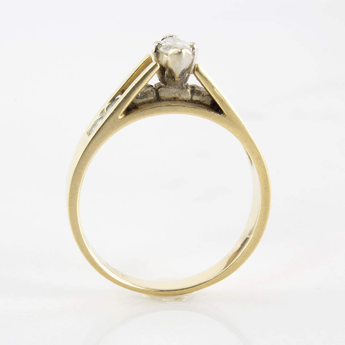 Marquise Diamond Solitaire Ring | 0.47 ctw | SZ 5.75 |