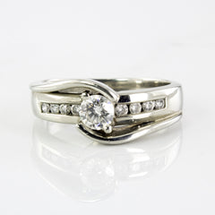 Channel Accented Diamond Bypass Ring | 0.61 ctw | SZ 9 |