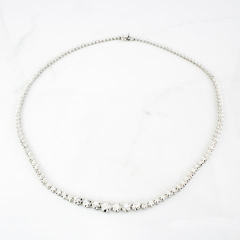 Diamond Illusion Chain Necklace | 3.11 ctw | SZ 16"