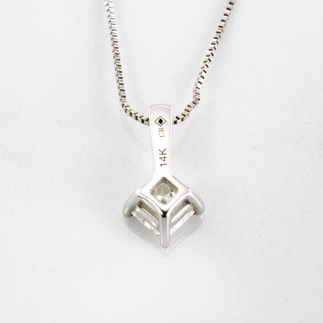 Princess Cut Diamond Necklace | 0.25 ctw | SZ 20"