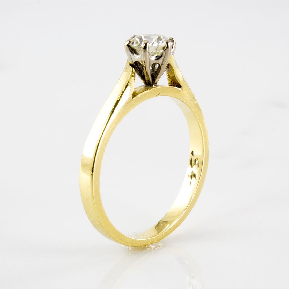 Elegant Diamond Solitaire Bypass Ring | 0.54 ctw | SZ 7 |