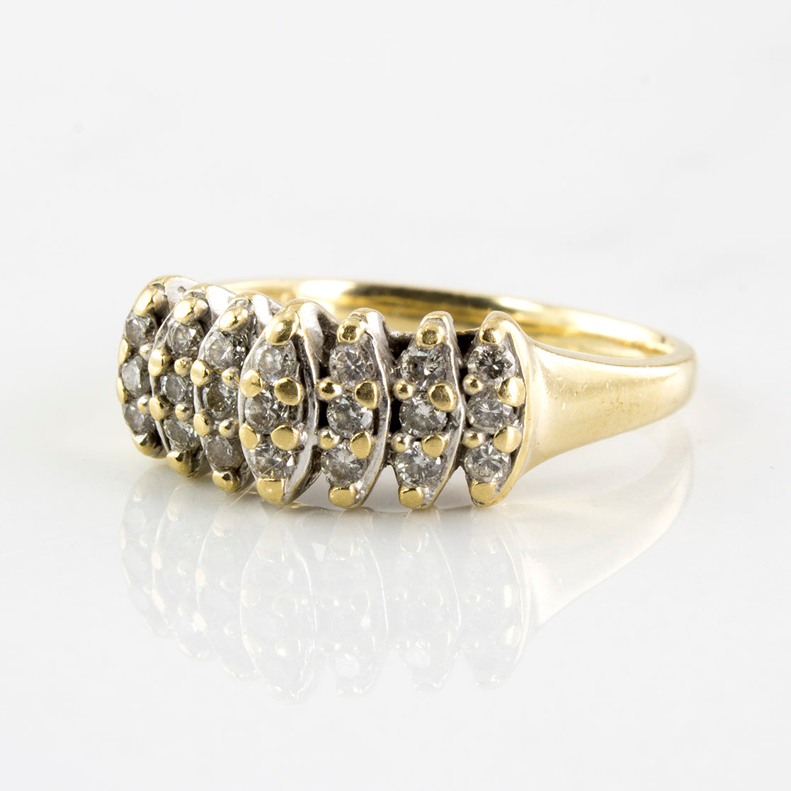 Marquise Shaped Cluster Ring | 0.23 ctw | SZ 4 |