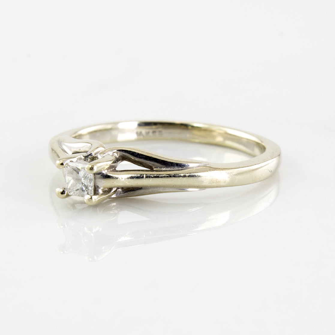 Princess Cut Diamond Solitaire Ring | 0.08 ctw | SZ 4.5 |