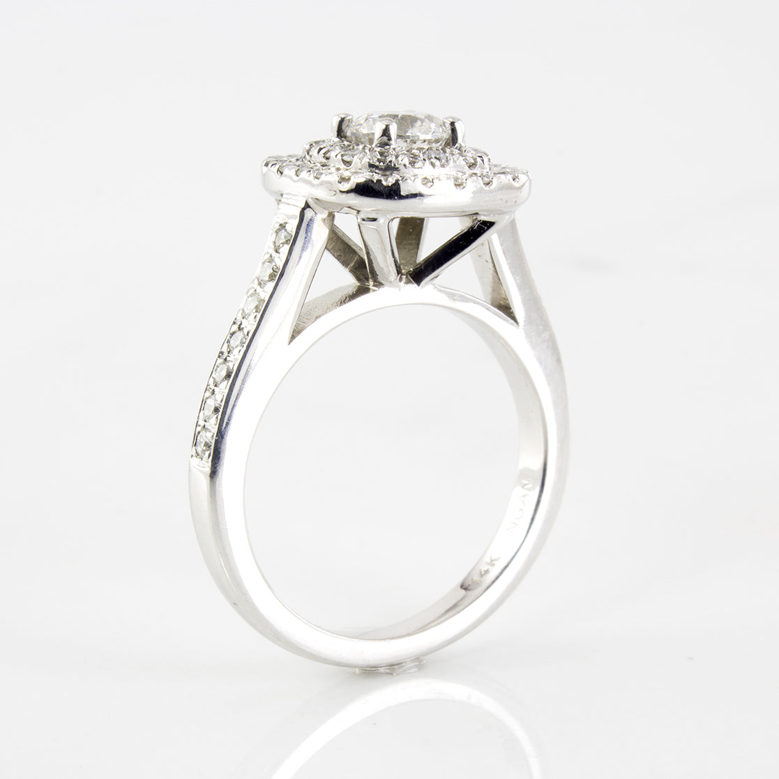 Double Halo Diamond Engagement Ring | 1.25 ctw | SZ 5.25 |