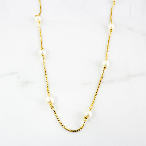 Long Chain Pearl Necklace | 30.24 ctw | SZ 36"