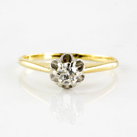 'Birks' Solitaire Engagement Ring Circa 1940's | 0.19 ctw | SZ 6.5 |
