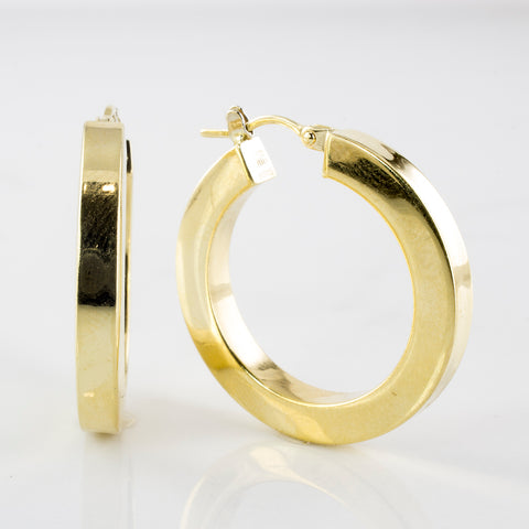 'Birks' Hoop Earrings
