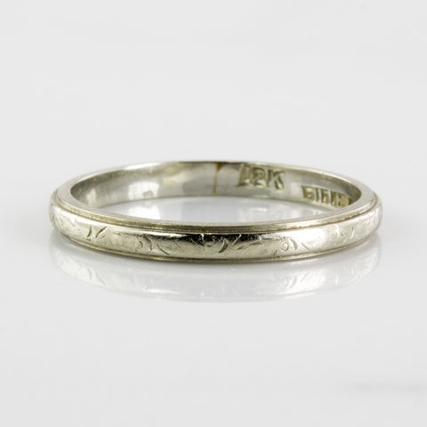 'Birks' 1930's White Gold Band | SZ 5.75 |
