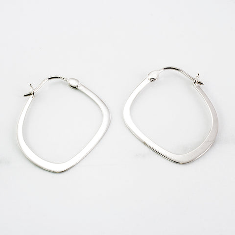 'Birks' Abstract Hoop Earrings