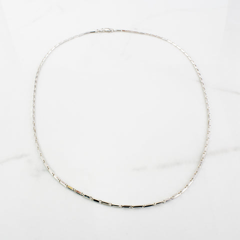 White Gold Link Chain | SZ 17"
